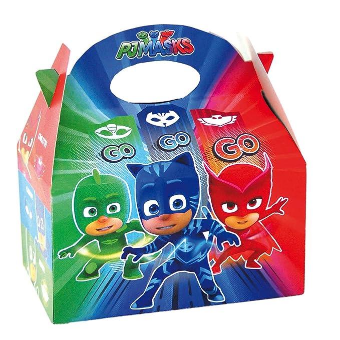 PJ Masks- Cajitas para decoración de fiestas (Verbetena 016001307)