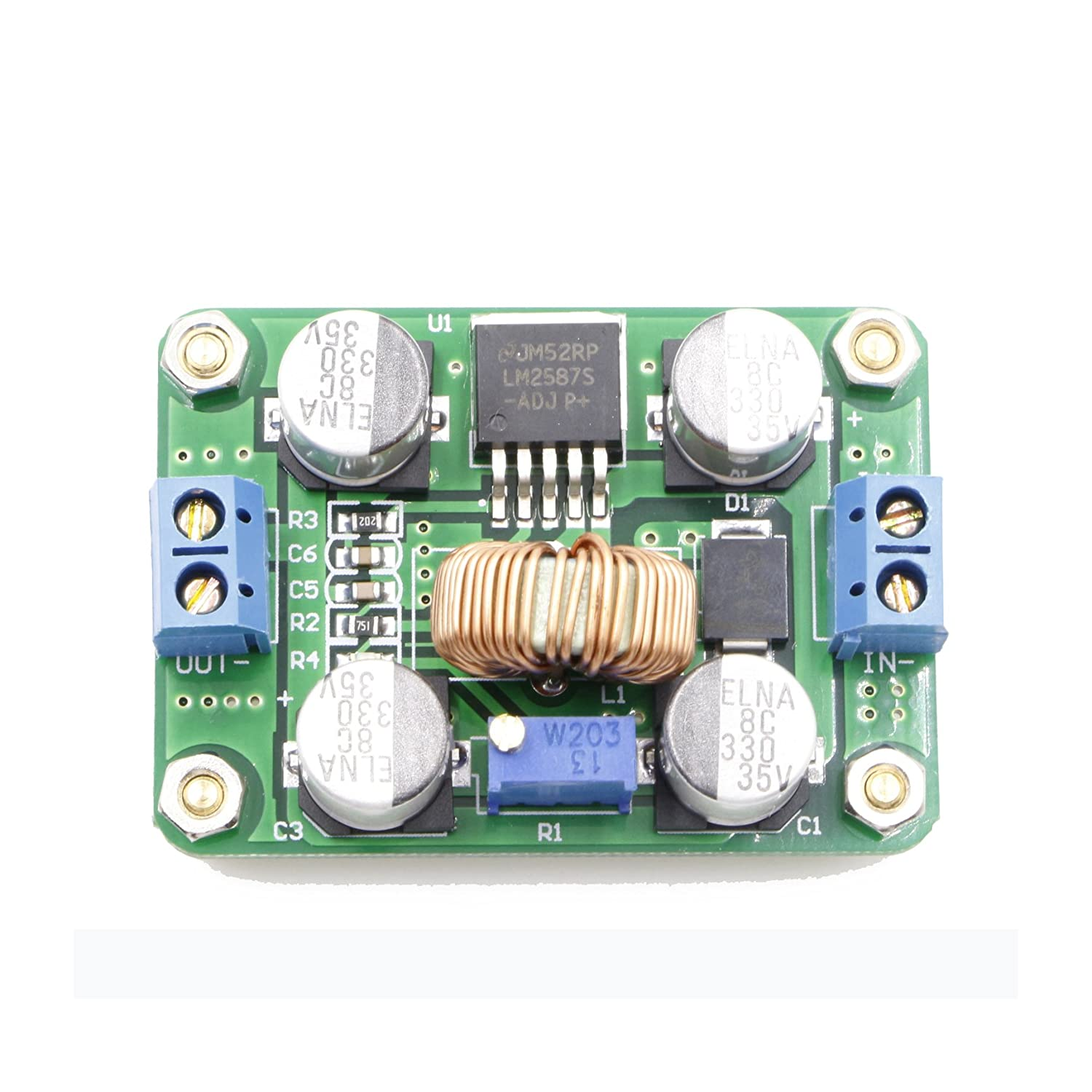 Reductor 12vdc 9vdc Electrnica Unicrom Circu T Tda7381 4 X 25w Quad Audio Amplifier Amazoncom Riorand Dc 35 30v To 40 Booster Converter Step Up Voltage Regulator Lm2587 Electronics