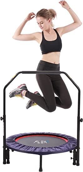 Mini cama elástica Pleny para fitness de interior con mango, 2 en ...