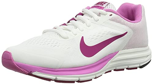 5ea3bc20a5651 Nike Womens Zoom Structure +17 Running Shoes White Weiß (Summit  White Bright Magenta