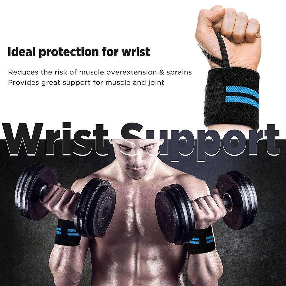 Glomab Polsini Sportivi Supporto per Il Polso Fascia Elastica Multifunzione Traspirante per Il Sollevamento Pesi Ginnastica Bodybuilding