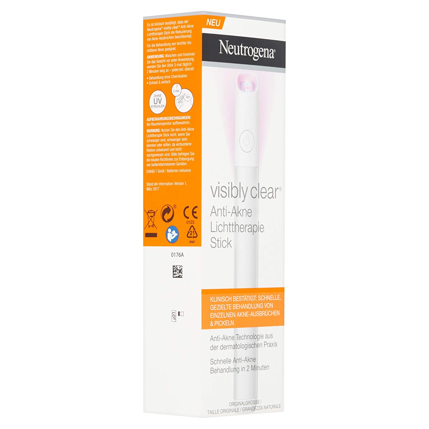 Neutrogena visibly Clear Anti acné lichttheraphie Stick: Amazon.es: Belleza