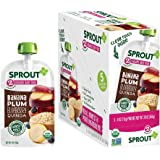 Sprout Organic Baby Food Pouches Stage 2 Sprout Baby Food, Banana Plum Blueberry Quinoa, 4 Ounce (Pack of 5); USDA Organic, Non-GMO, Made with Whole Foods, No Preservatives, Nothing Artificial