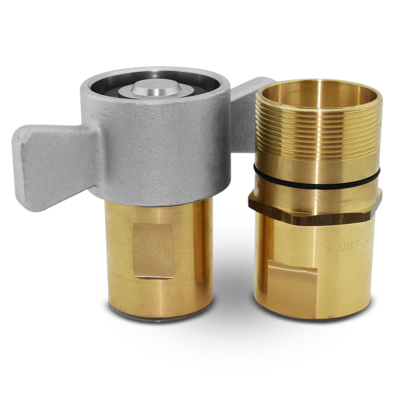 1-1/4'' NPT Wet-Line Wing Nut Hydraulic Quick Disconnect Coupler/Coupling Set