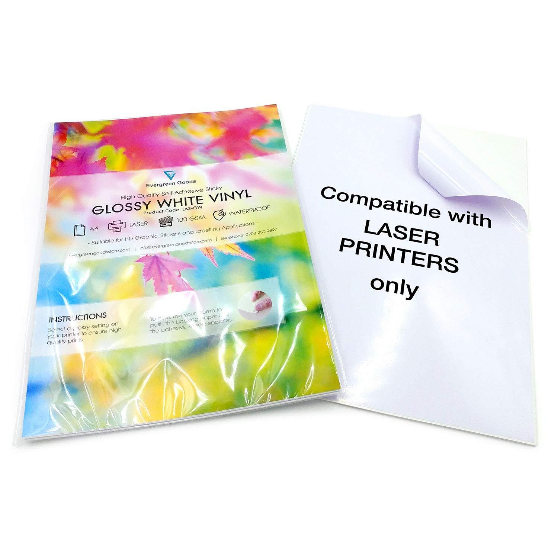10 hojas de vinilo A4 imprimibles a láser impermeables (PVC ...