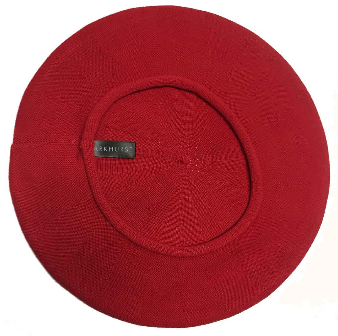 Parkhurst of Canada 11-1/2 Inch Cotton Knit Beret (Red)