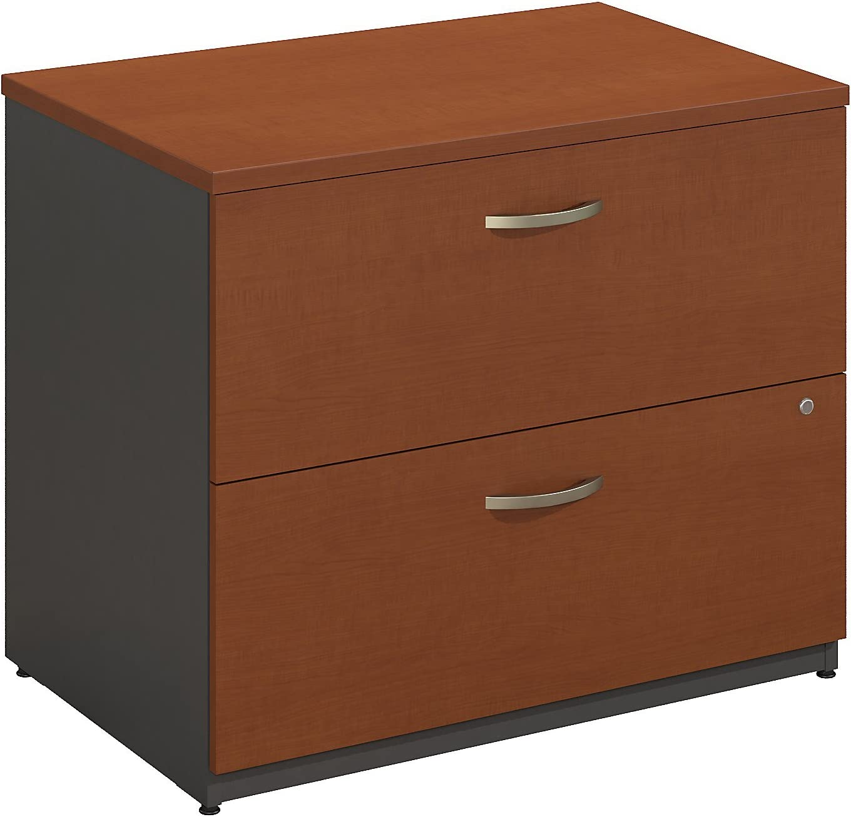 Bush Business Furniture Series C Lateral File Cabinet in Auburn Maple