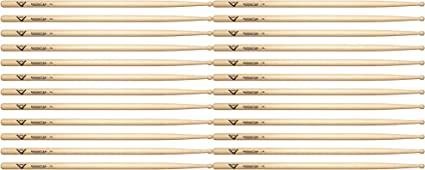 12 Pair Bundle Vater Hickory Manhattan 7A Wood Tip Drum Stick