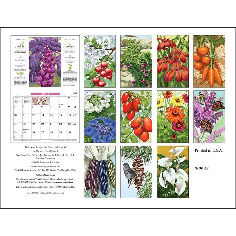 com old farmer s almanac gardening wall calendar made com 2017 old farmer s almanac gardening wall calendar made in usa everything else