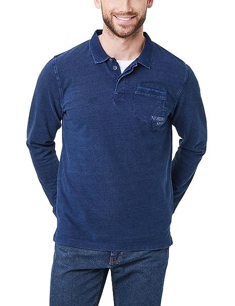 Pioneer Polo Shirt Longsleeve, Azul (indigoblue 578), M para ...