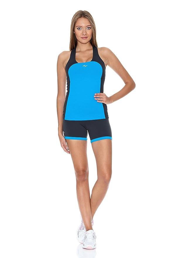 Naffta Camiseta Tenis/Padel Turquesa/Gris S: Amazon.es: Ropa ...