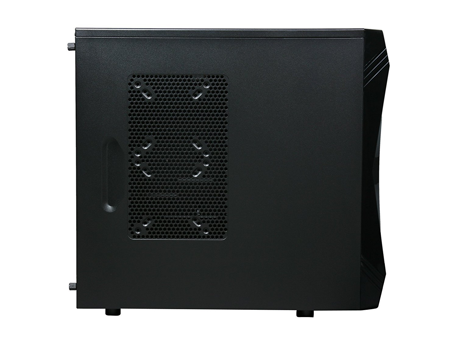 ROSEWILL ATX Mid Tower Gaming Computer Case, Gaming Case with Blue LED for Desktop / PC and 3 Case Fans Pre-Installed, Front I/O Access Ports  (CHALLENGER) by Rosewill (Image #4)