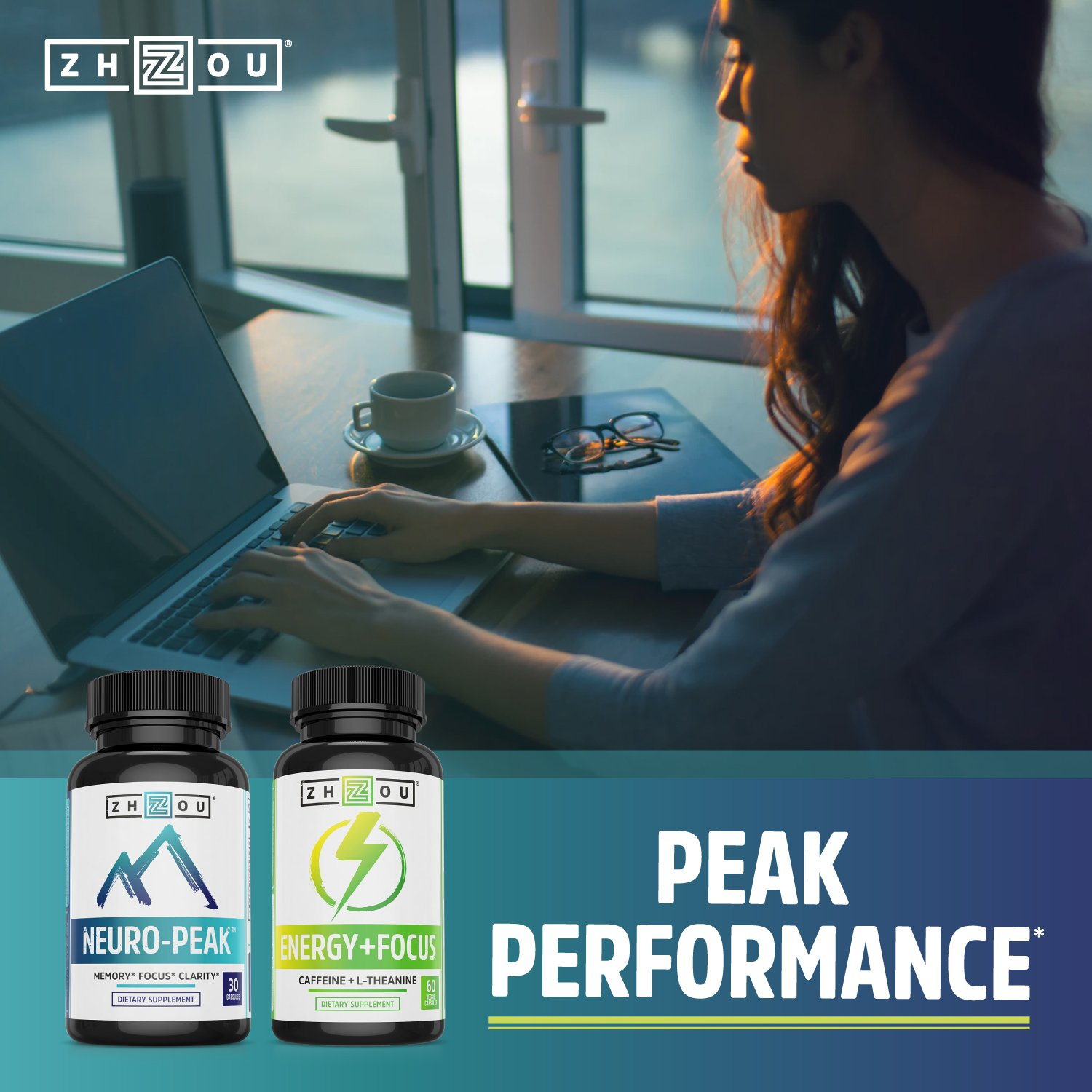 Neuro-Peak Brain Support Supplement, Nootropic Formulated for Memory, Focus, Clarity, 30 Capsules by Zhou Nutrition (Image #7)