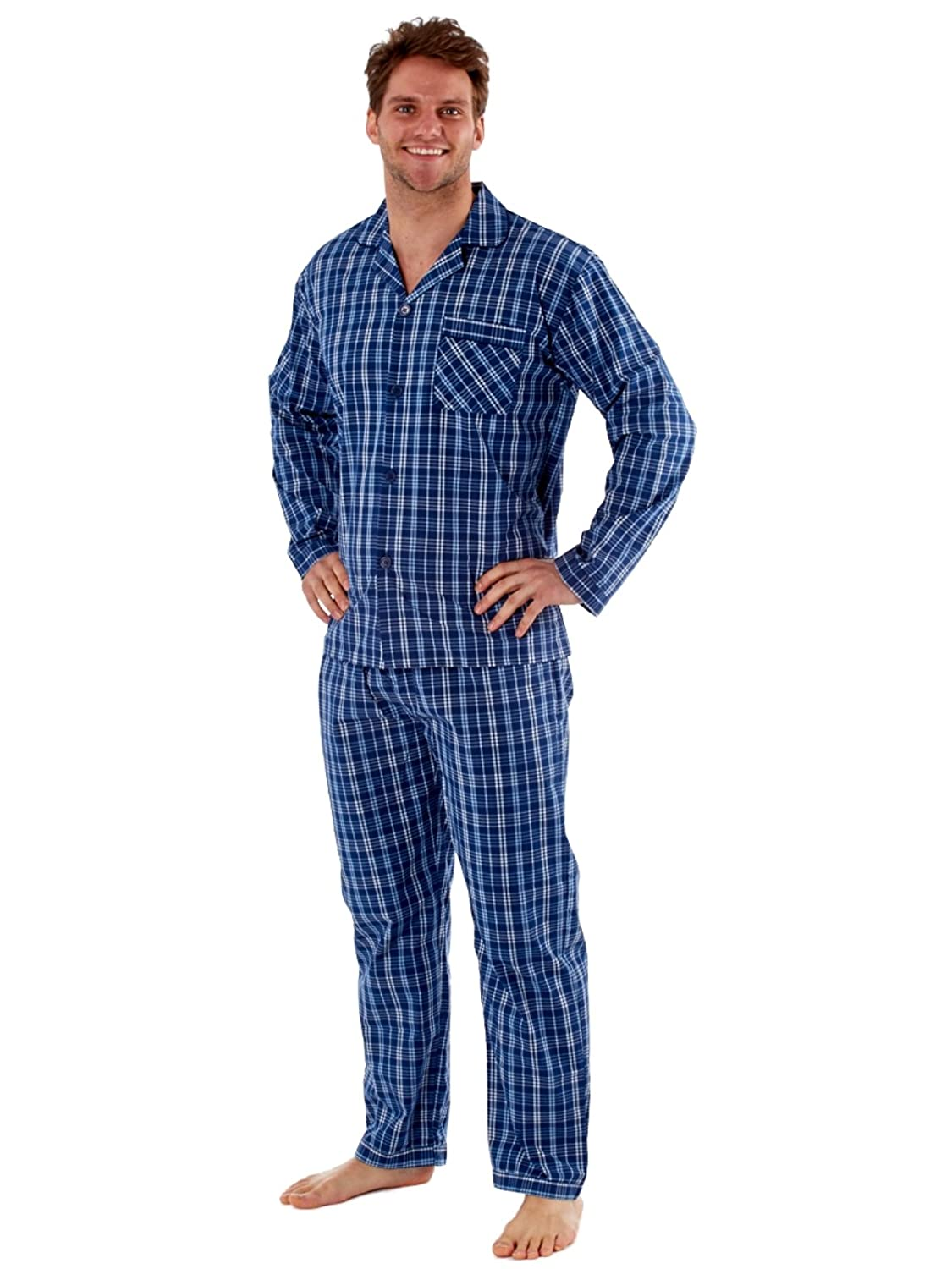 Mens Pyjamas Sleepwear Lighweight Poly Cotton Loungewear Pajamas - M L XL XXL MN89