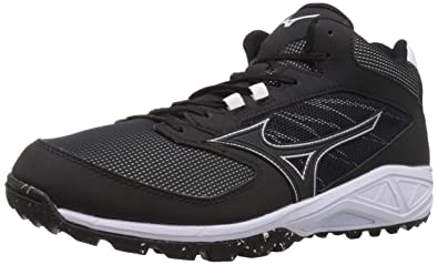 ef934b4f8dce Mizuno Men's Dominant All Surface Mid Turf Baseball Shoe, Black/White, ...