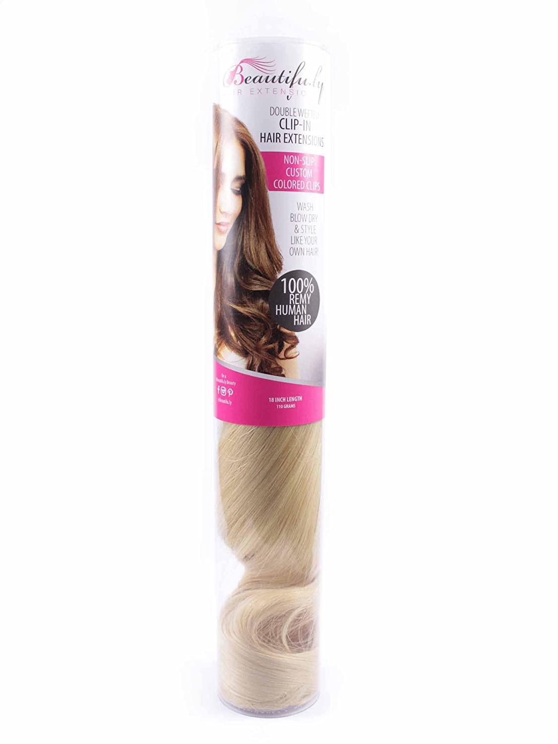 Amazon 100 Remy Human Hair Clip In Extensions 18 110 Grams