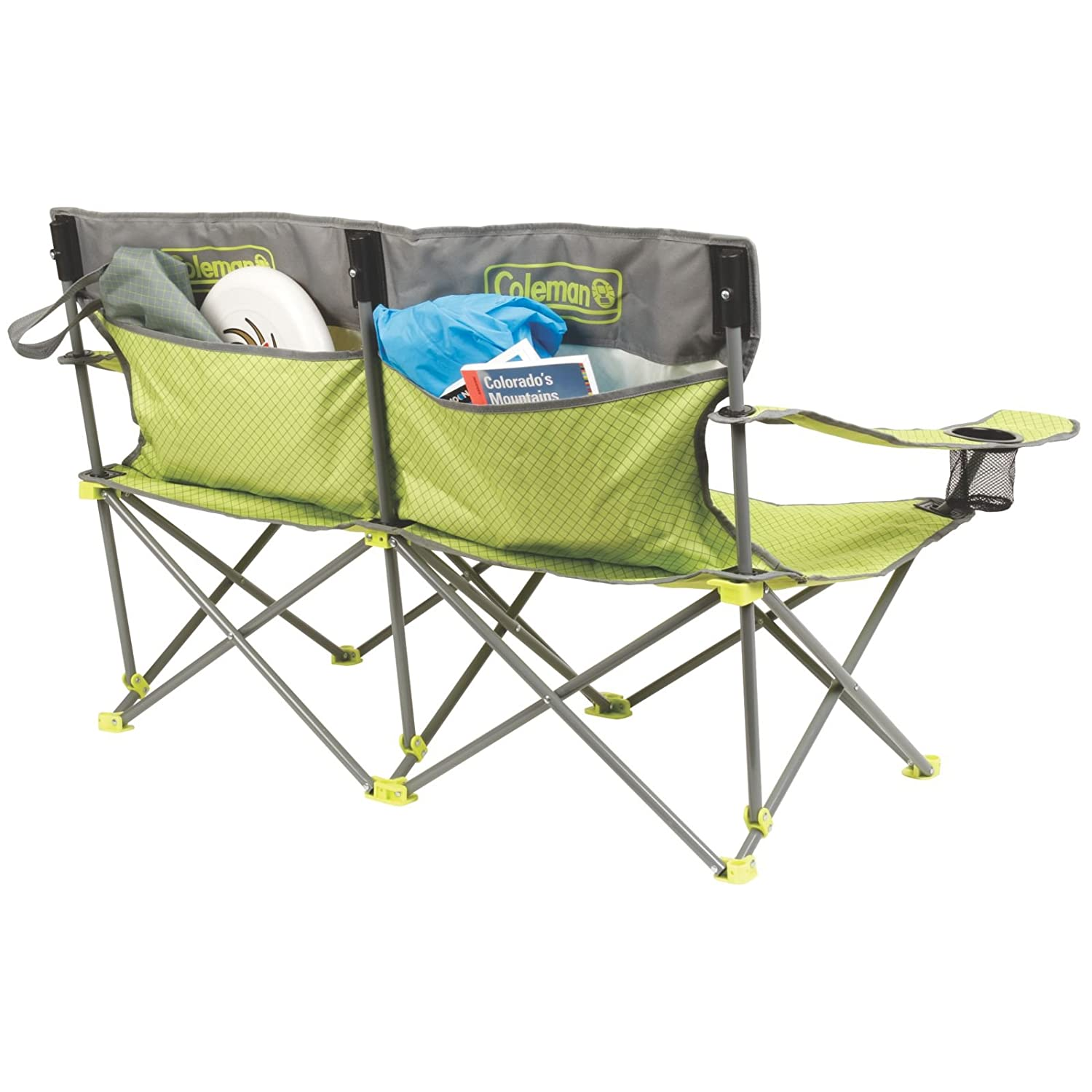 Amazon Coleman Quattro Lax Double Quad Chair Sports & Outdoors