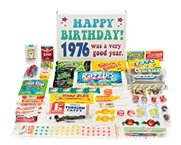Woodstock Candy 1976 43rd Birthday Gift Box Of Nostalgic Retro Assortment From Childhood For
