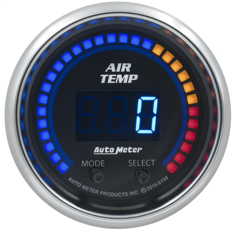 Auto Meter AutoMeter 6158 Gauge, Air Temp, Dual, 2 1/16'', 0-300ºf, Digital, Cobalt