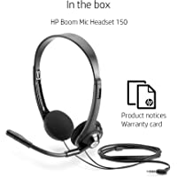 HP Boom 150 Stereo Headset with Mic for PC (Black)