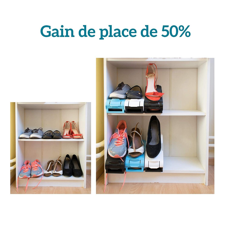 Vmca Rangement Chaussures Reglable Support Modulable En Plastique