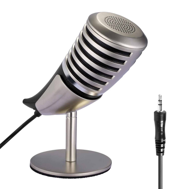 Microfono Neewer Desktop Horn Con Soporte De Metal Y Estuche Portatil, Plug-and-play Para Sistemas Windows Linux Y Mac O