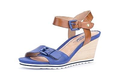12cd5bb8167 Pikolinos Women s Bali Wedge Sandal Blue 8 UK  Amazon.co.uk  Shoes ...