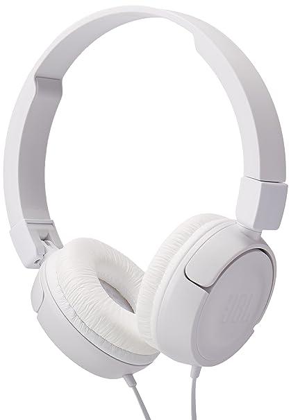 575edbe38aa Amazon.com: JBL Pure Bass Sound T450 Wired On-Ear Headphones White:  Electronics
