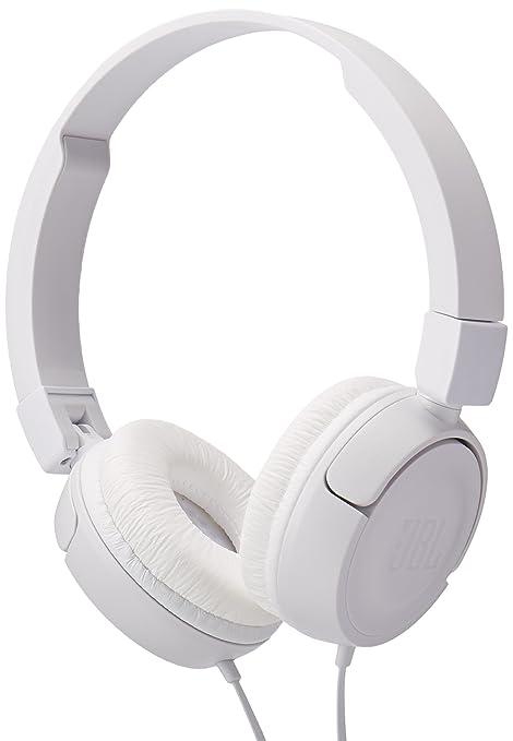 c8e4da4908a Amazon.com: JBL Pure Bass Sound T450 Wired On-Ear Headphones White:  Electronics