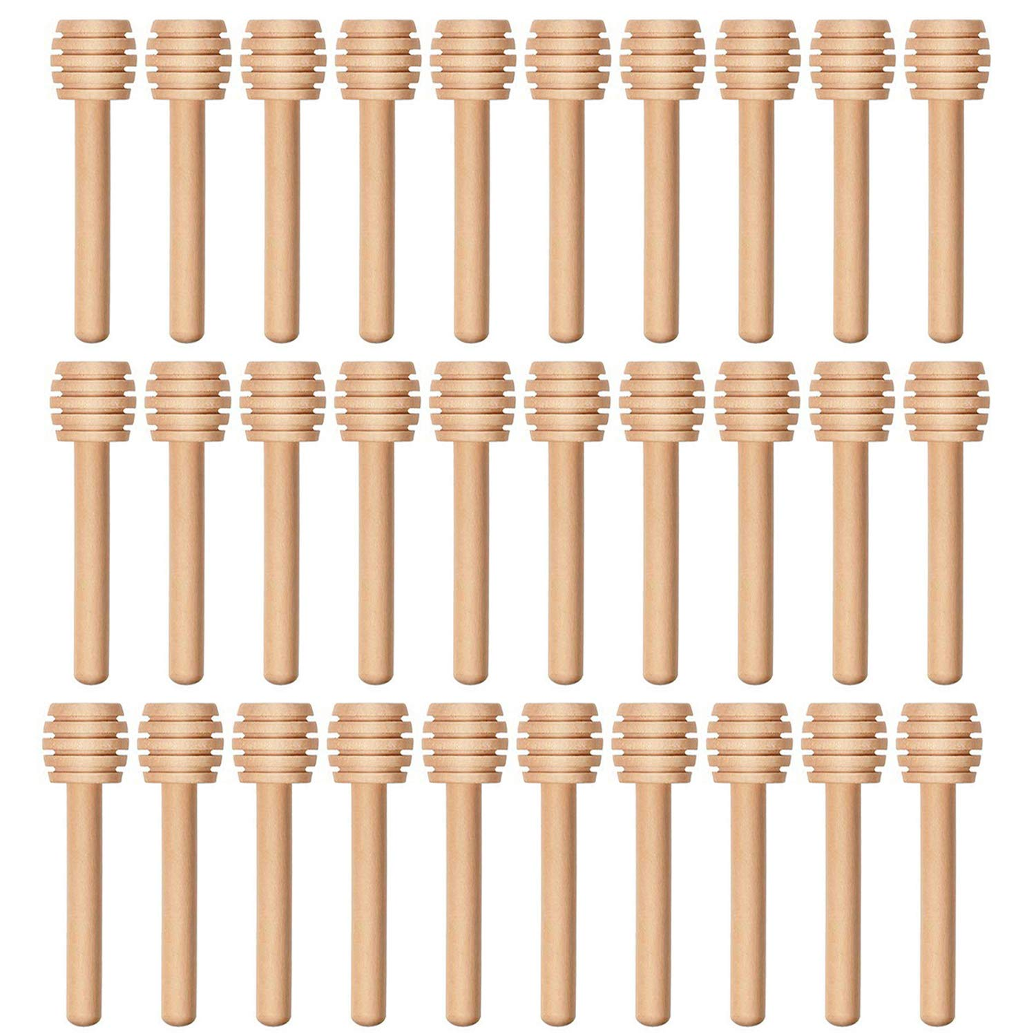 AxeSickle 50 pcs Wooden Honey Dipper Sticks 3 inch Mini Honey Dippers for Honey Jar Dispense Drizzle Honey. by Axe Sickle