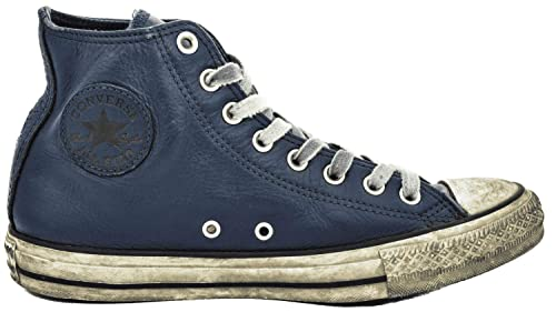 a727325781e65e Converse 162906C Limited Edition Navy Blue Shoes Sneakers Man high Leather  Laces  Amazon.co.uk  Shoes   Bags