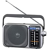Panasonic Portable AM/FM Radio, Silver (RF-2400DGN-S)