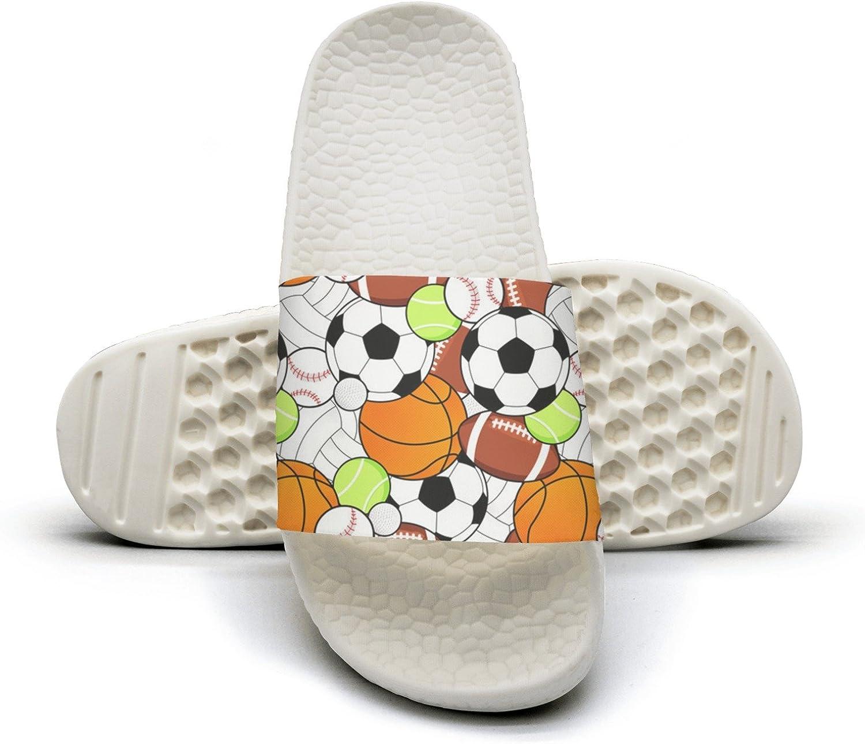 Mens Sport Tennis Football Balls Non-Slip Soft Foams Slipper Home Slide Sandals
