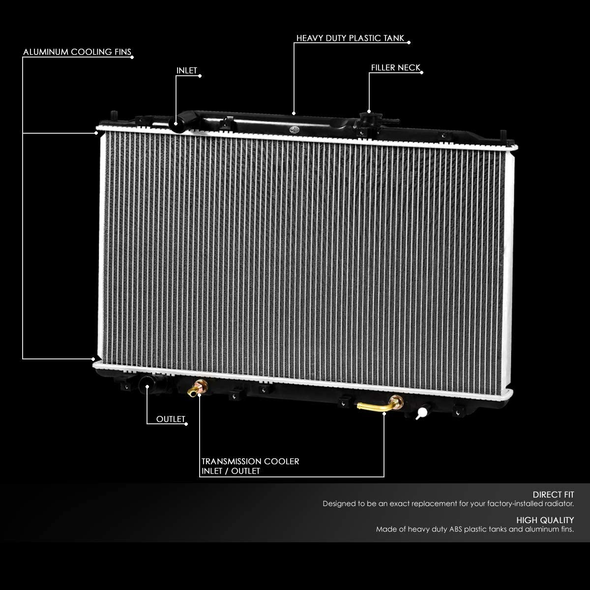FOR 2005-2010 HONDA ODYSSEY AT FACTORY STYLE 2806 ALUMINUM CORE COOLING RADIATOR