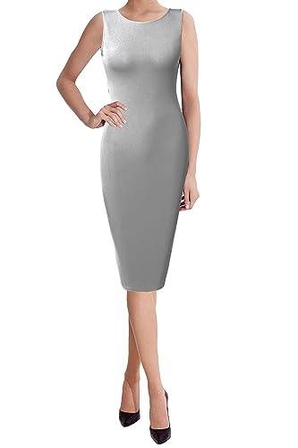 THANTH TWINTH Midi Dress Plus Size Classic Slim Fit Sleeveless Short Sleeve