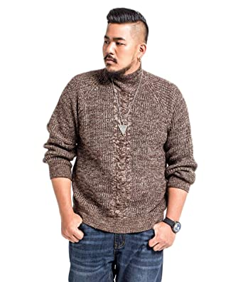 Jshfd Manches Roulé Homme Longues Col Gros Pull vb6gYf7y