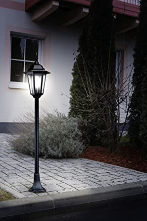 Antiguo pie (en negro, transparente, altura 100 cm, E27 ...