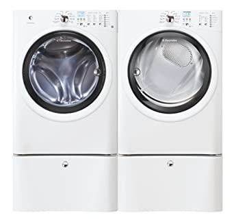 electrolux 24 washer. electrolux iq touch white front load washer and electric dryer laundry set with pedestals eiflw50liw_eied50liw_epwd15iw 24