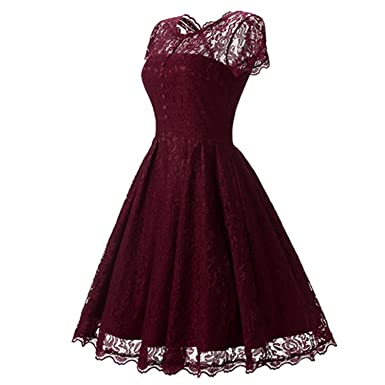 Albina Collins Hot Sale Womens Summer Lace Dress New Vintage O Neck Slim Sexy Pin Up