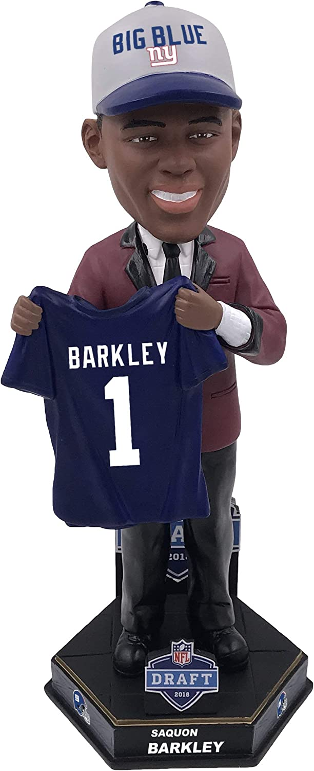 Forever Collectibles NFL New York Giants Mens New York Giants Saquon Barkley Bobble 2018 NFL Draught Pick 2New York Giants Saquon Barkley Bobble 2018 NFL Draught Pick 2, Team Colours, One Size