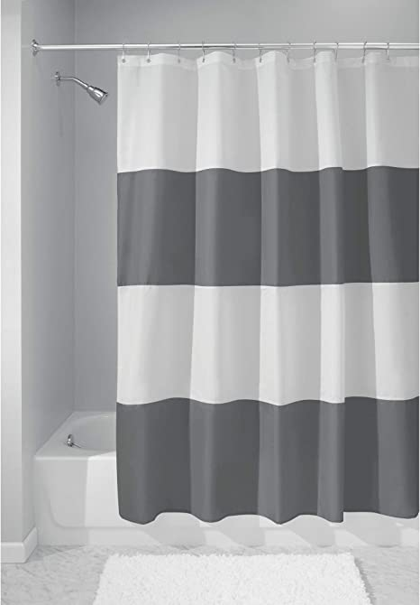 Details about  /Striped Shower Curtain Set Colorful Retro Stripes Sawtooth Bathroom Decor 71in
