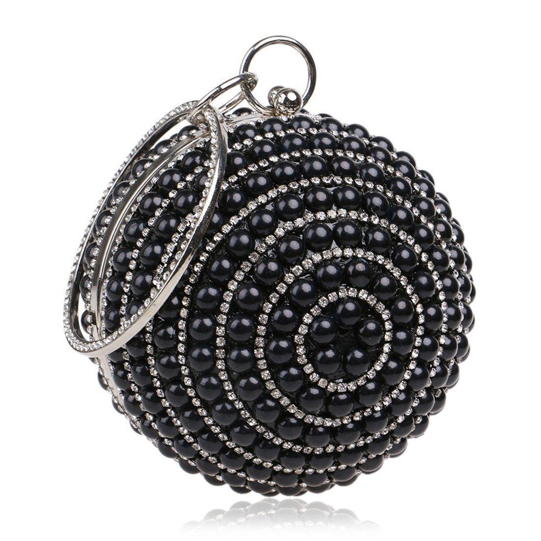 Plsonk Unterarmtasche Frauen Perle Handtasche Ball Clutch Geldbörse Abend Abend Abend Party Kleid Tasche Abendessen Geldbörse (Farbe   Silber) B07PM6RWGV Geldbrsen 821349