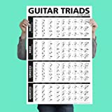 """El último triads guitarra Póster 24""""x36"""" un para personas de referencia ideal aprendizaje o la enseñanza de la guitarra"""