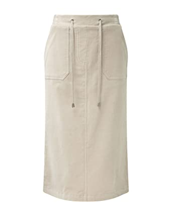 0ce0489592 Cotton Traders Womens Ladies Cotton Inner Tummy Control Cord Pocket Skirt  Nutmeg Beige 10: Amazon.co.uk: Clothing