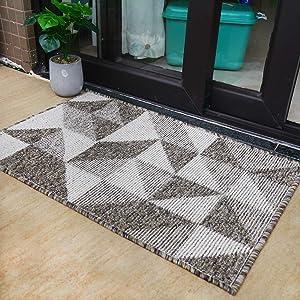 Indoor Doormat Front Door Mat Simple Pattern Area Rugs No-Slip Indoor Doormats with Durable Rubber Carpets for Home Entry Machine Washable - 24