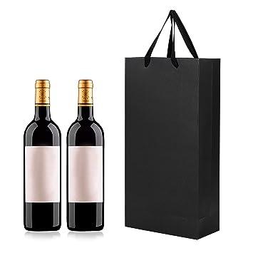 Bolsas de regalo para botella de vino o champán, con asa ...