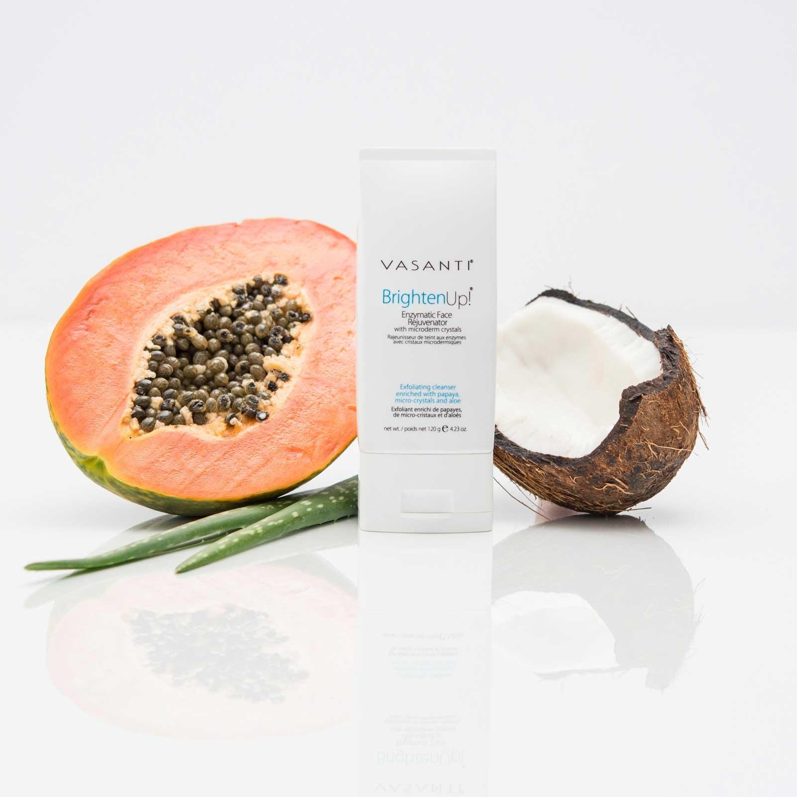Vasanti Cosmetics Brighten Up! Enzymatic Face Rejuvenator Exfoliating Face Wash by VASANTI - Get Healthy Glowing Skin - Original Size (120g) by Vasanti Cosmetics (Image #4)