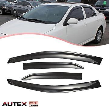 Fit 09 10 11 12 13 Toyota Corolla Rain Guard Window Visor Wind Deflector