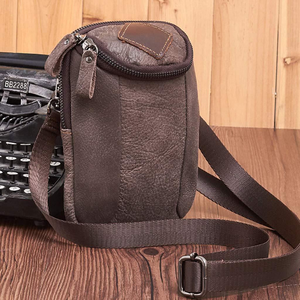 Horoshop Vintage Men Belt Hook Fanny Waist Shoulder Bag Outdoor Travel Hiking Phone Pouch