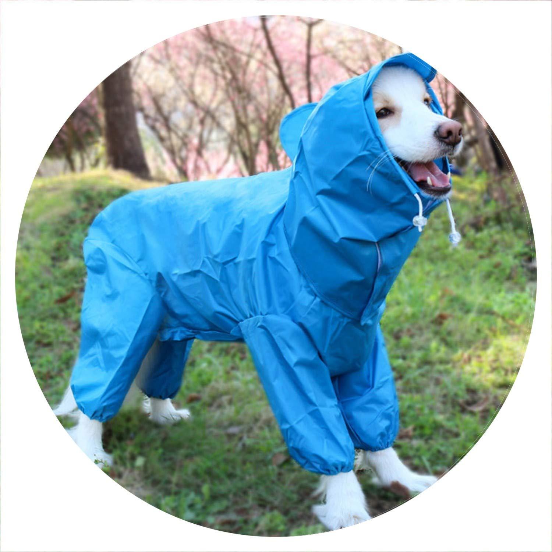 bluee 24Waterproof Dog Raincoat Dog Rain Jacket Closed Belly Cuttable Girl Boy Dog Clothes,Pink,18